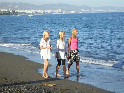 """Strand vid Puerto Banus, Marbella"""