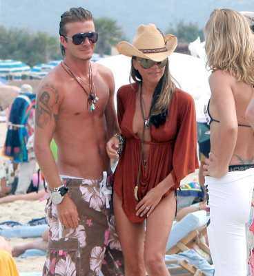 David Beckham och hans Victoria njuter av solen i Saint Tropez.