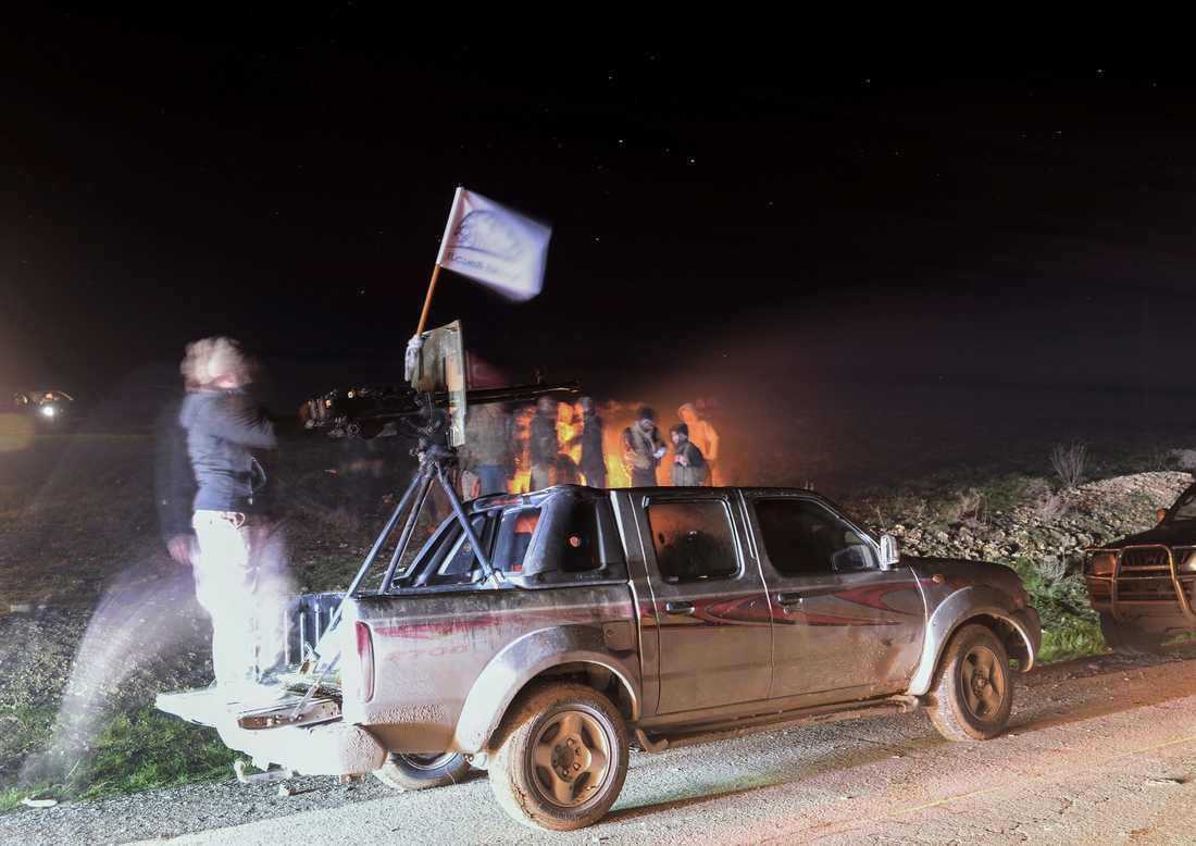 Turkietstödda styrkor nära Manbij den 28 december.