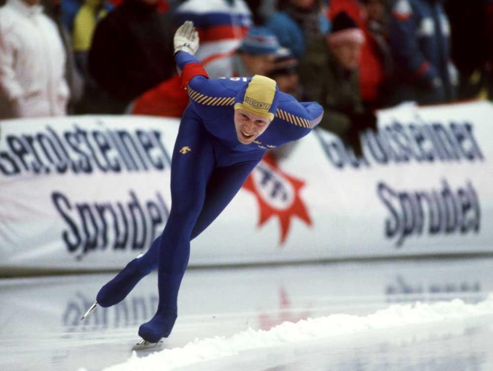 1992 i Albertville: Tomas Gustafson, skridsko.