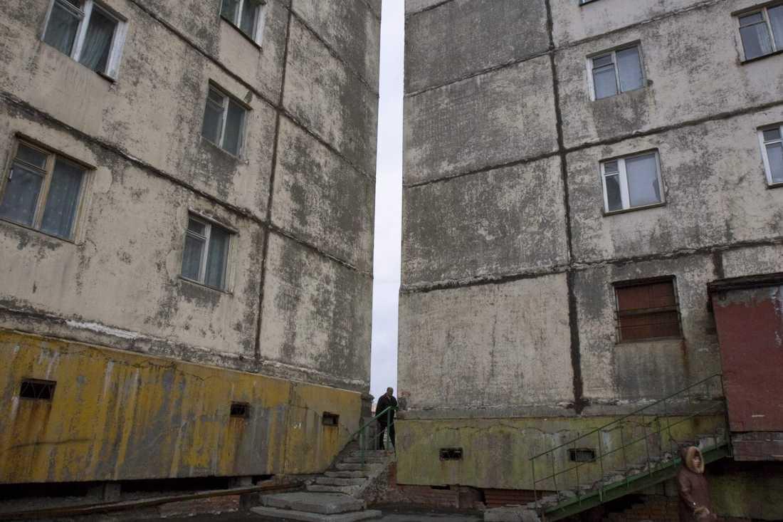 Bostäder i Norilsk. Arkivbild.