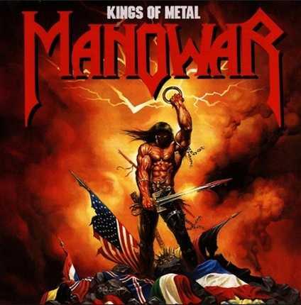 """Omslaget till bandets klassiker """"Kings of Metal""""."""
