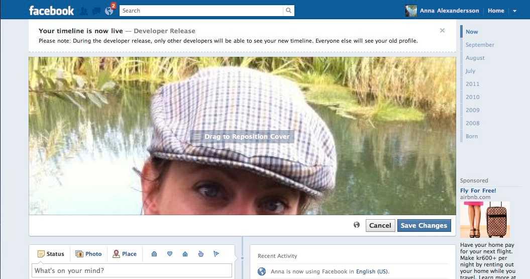 10. Nu kan du i lugn och ro redigera ditt liv på Facebook – och bokstavligen ligga långt före alla andra när den verkliga lanseringen sker den 4 oktober 2011.