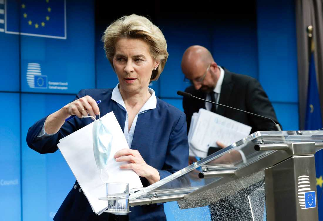 EU-ledarna Ursula von der Leyen och Charles Michel tog upp fallet Gui Minhai på måndagens webbtoppmöte med Kina. Arkivfoto.