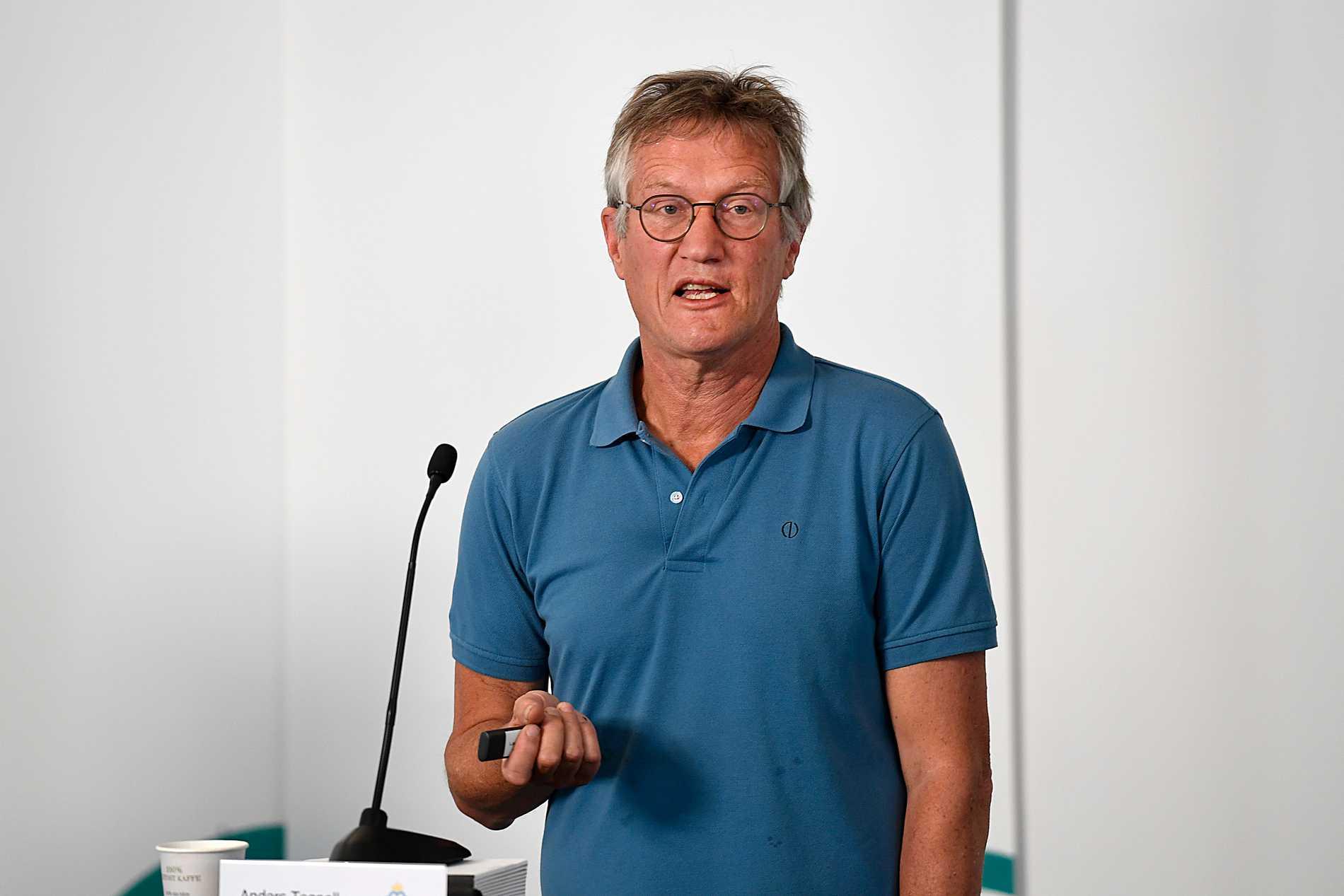 Anders Tegnell under Folkhälsomyndighetens presskonferens den 23 juni.