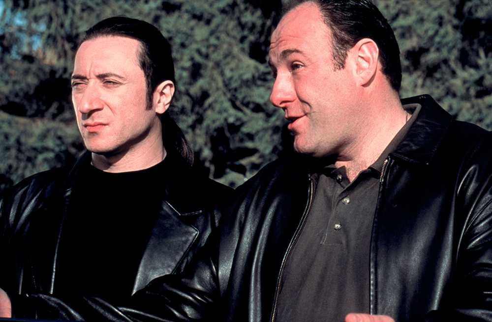 James Gandolfini med Federico Castelluccio, som spelar hårdingen Furio, Tony Sopranos livvakt och torped.