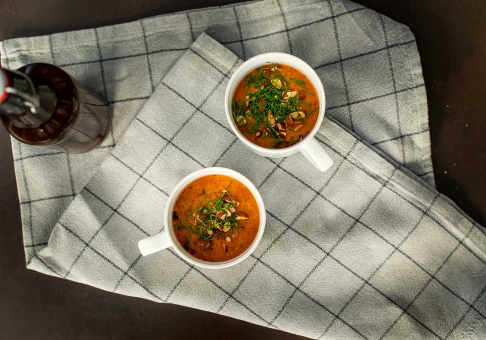 Kall tomatsoppa till din picknick.