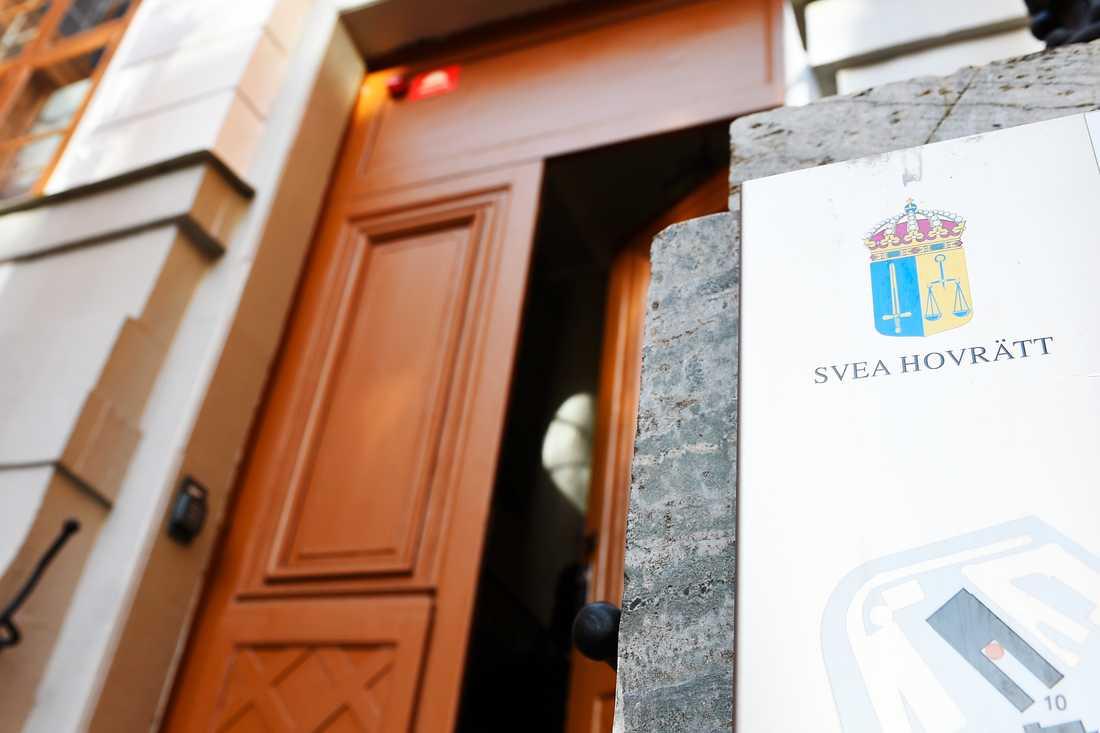 Ingången till Svea Hovrätt i Stockholm. Arkivbild.