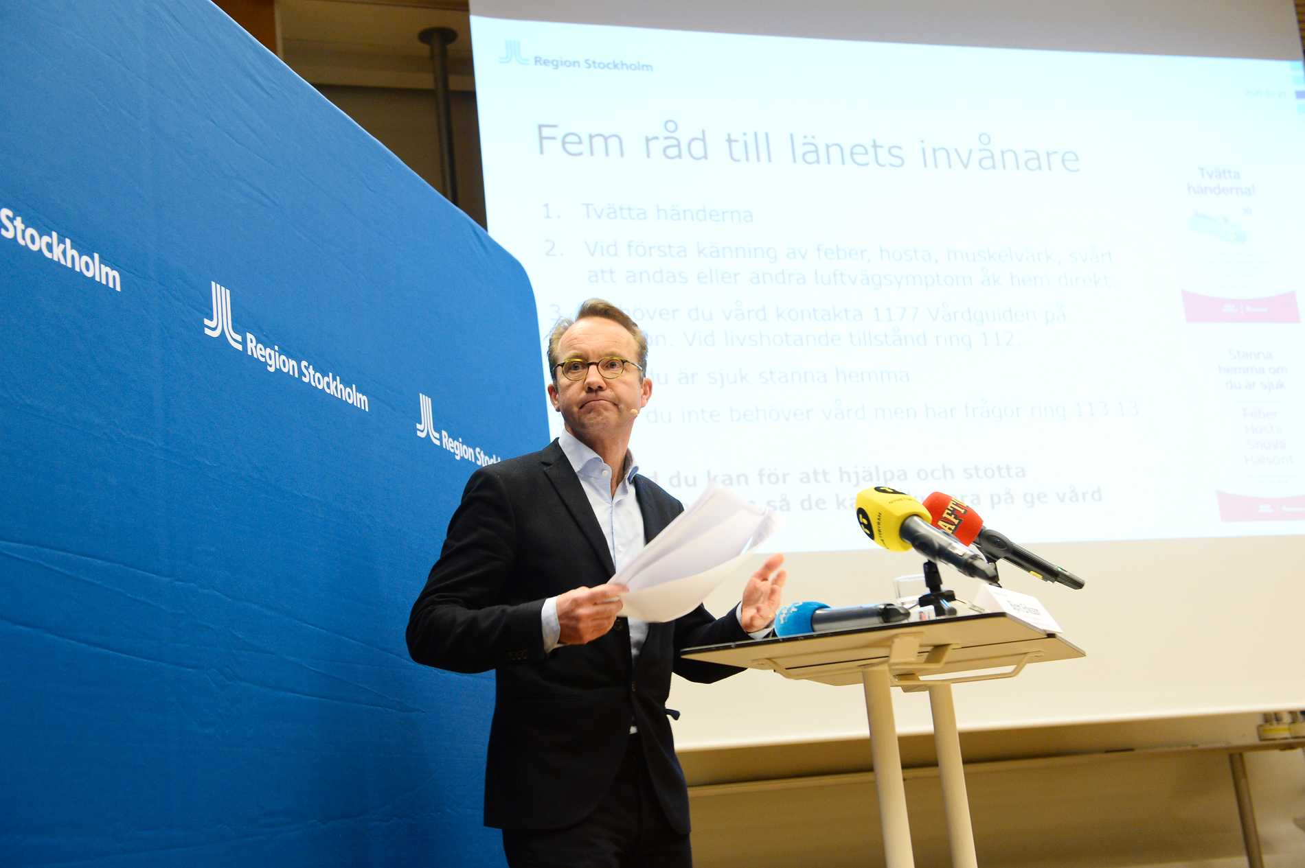 """""""Stormen är här"""", sägerBjörn Eriksson,hälso- och sjukvårdsdirektör Region Stockholm."""