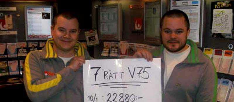 Ägarna till Åke Westlunds Tobak, Jörgen Nilsson och Mikael Knutsen. På onsdag jagar de en miljonvinst på V64.