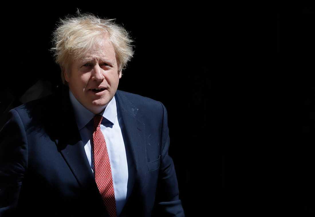 Storbritanniens premiärminister Boris Johnson utanför 10 Downing Street i onsdags.