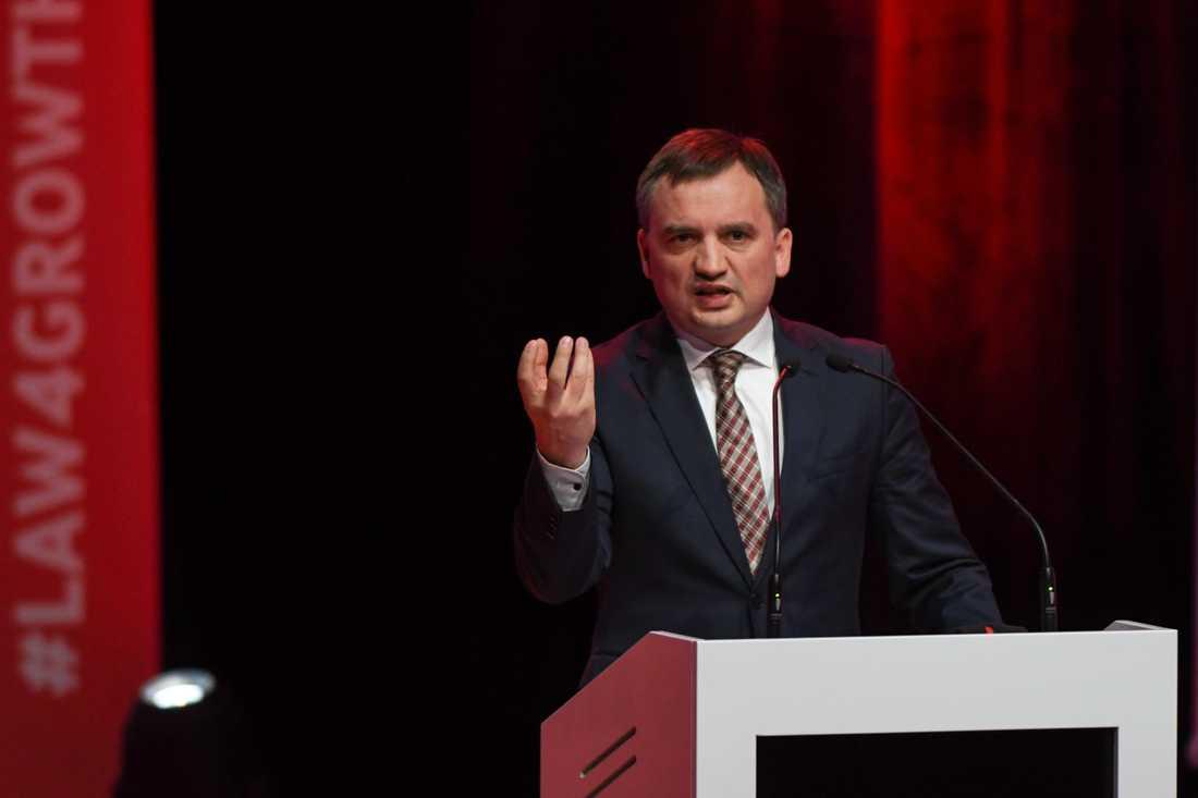 Den polska justitieministern Zbigniew Ziobro.