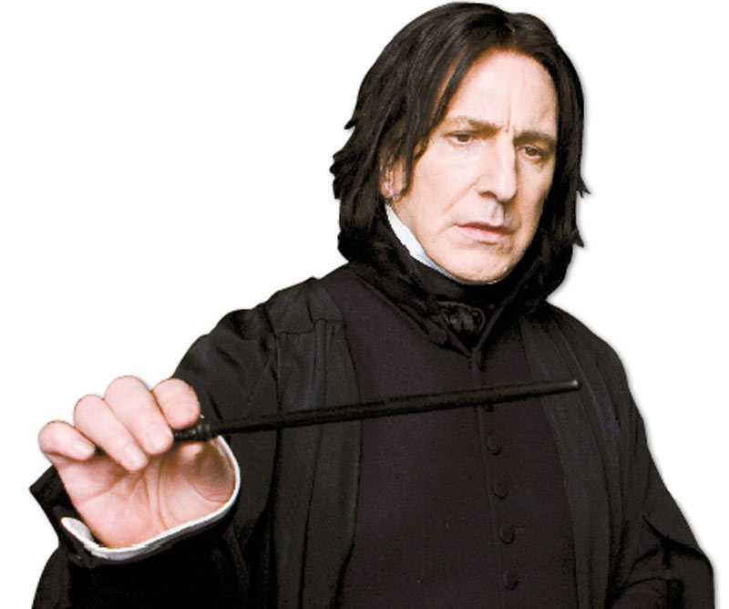 Alan Rickman spelar den gåtfulle professor Severus Snape i den sjätte filmen om Harry Potter.