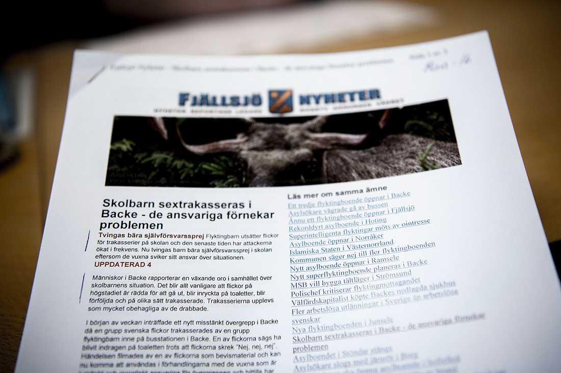Fjällsjö Nyheter har etablerat sig som ett Avpixlat för Jämtlands och Västernorrlands län.