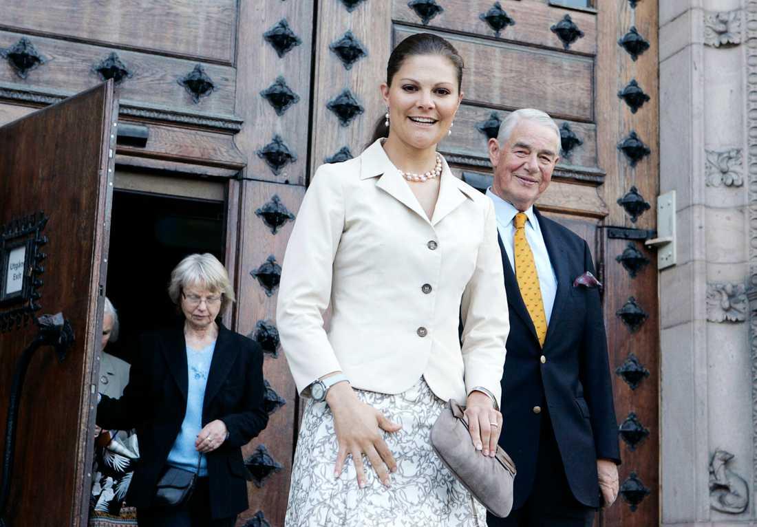 Kronprinsessan Victoria tillsammans med Johan Nordenfalk.