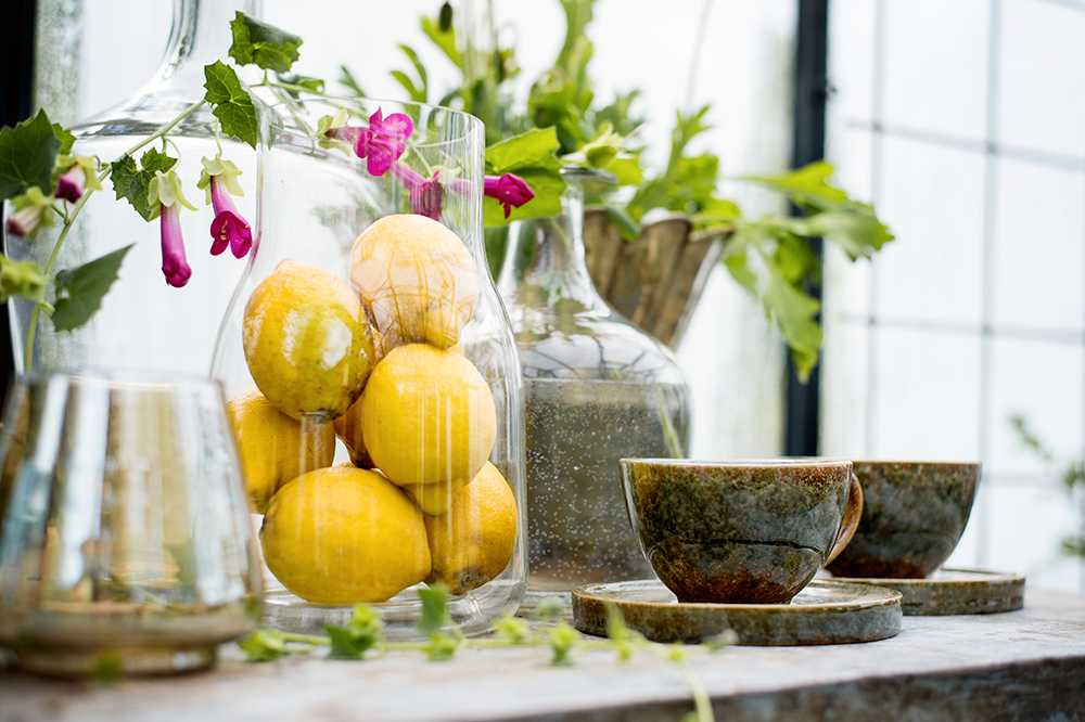 Citroner. Att använda till mat och dryck. Men citronblommar luktar gott.