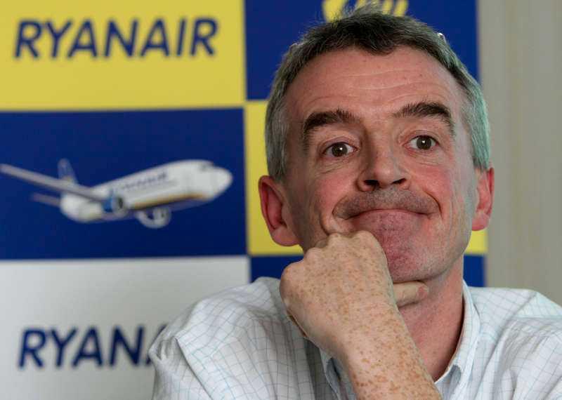 Ryanairs vd Michael O'Leary.
