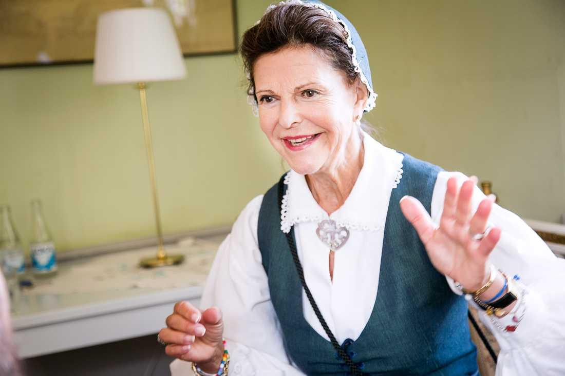 Drottning Silvia i exklusiv intervju med Aftonbladets Mattias Sandberg.