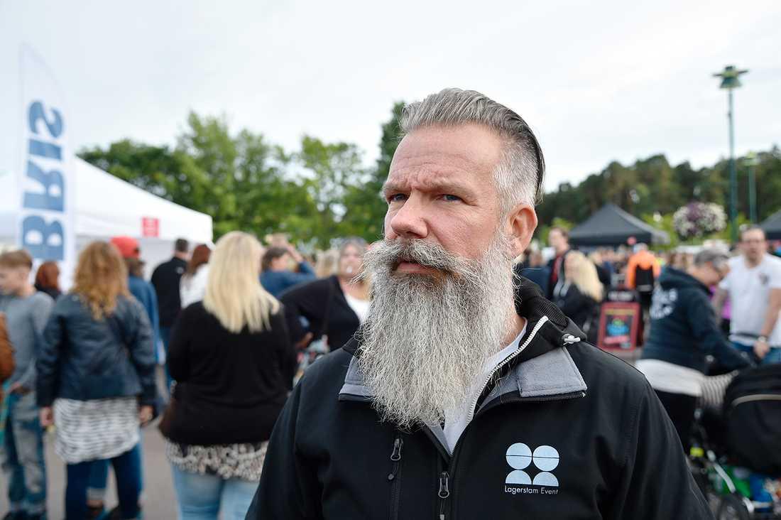 """Festivalgeneralen Niclas Lagerstam blev förvånad på lördagsmorgonen när han läste att det var så många anmälningar: """"Det är inte acceptabelt och det är inte okej""""."""