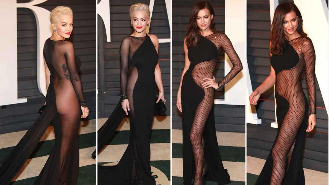 Rita Ora mot Irina Shayk i den vågade klänningsmatchen.