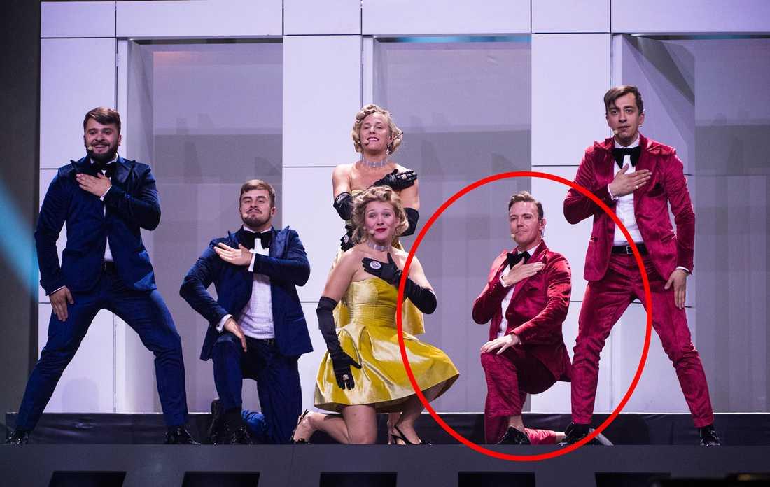 Erik Høiby stod på scen i Moldaviens Eurovisionbidrag 2018.