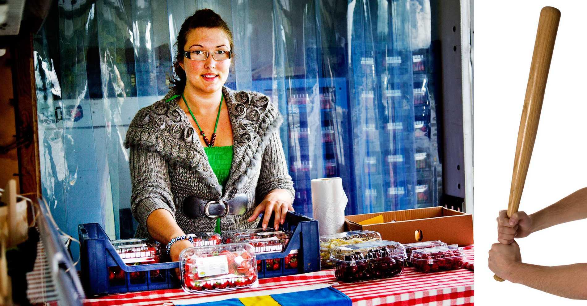 kan förstå. Diana Sjöström, 23, säljer jordgubbar vid vägkanten och har varit med om obehagliga situationer på jobbet.