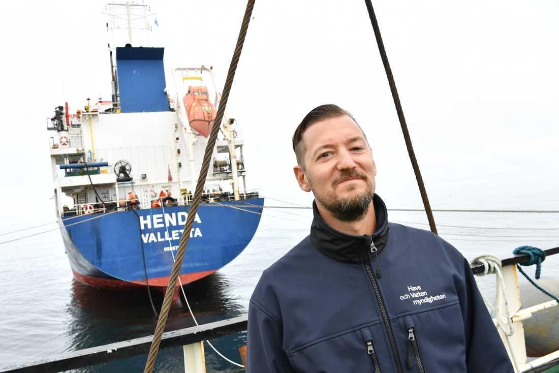 Vrakspecialist Fredrik Lindgren på Havs- och vattenmyndigheten är glad över att arbetet ger resultat.