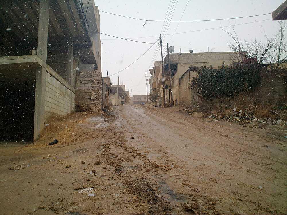 Staden Rankous i Syrien dit journalisterna tros ha blivit förda.