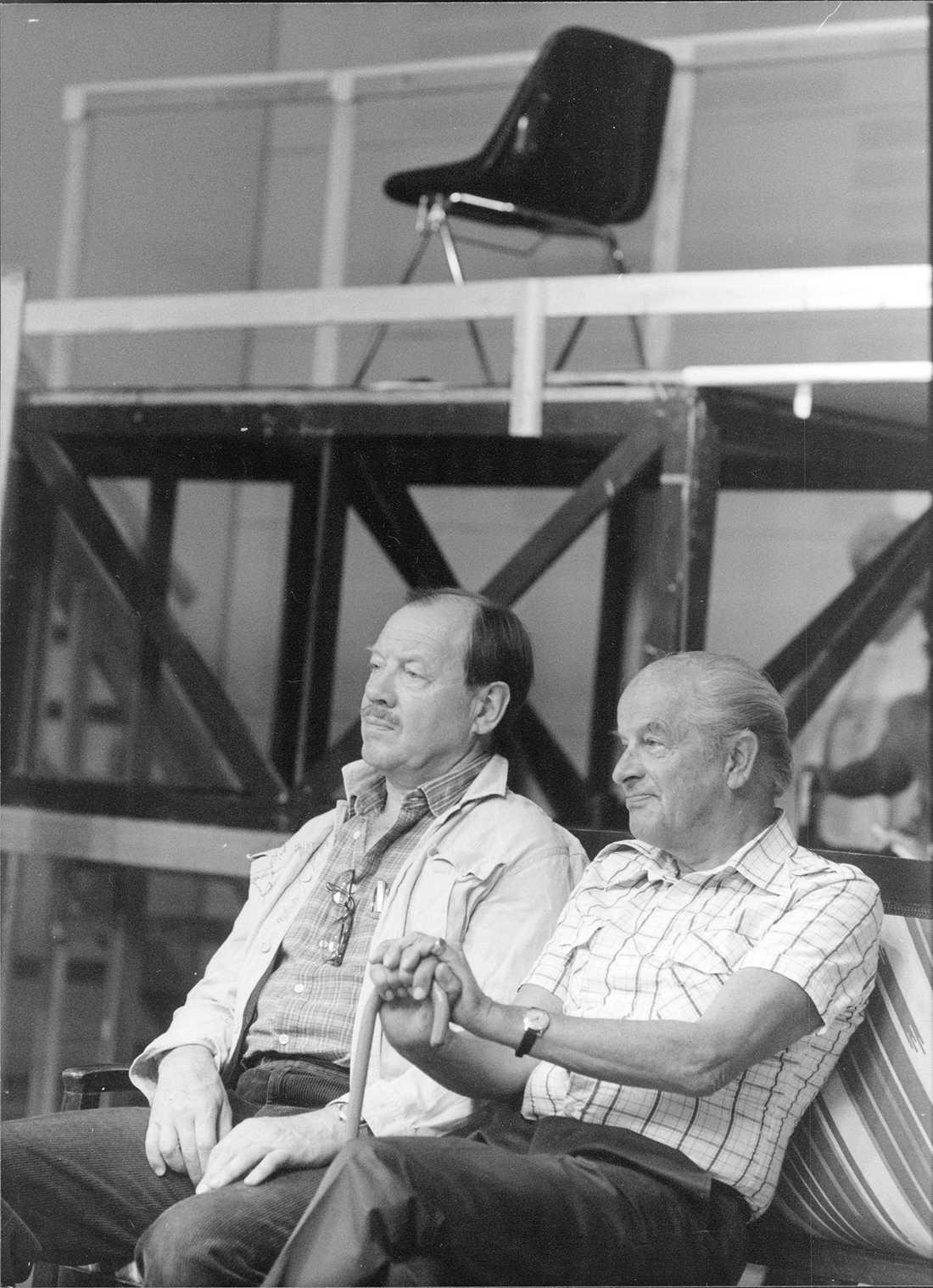 1988 Skådespelarna Axel Düberg och Ingvar Kjellson.