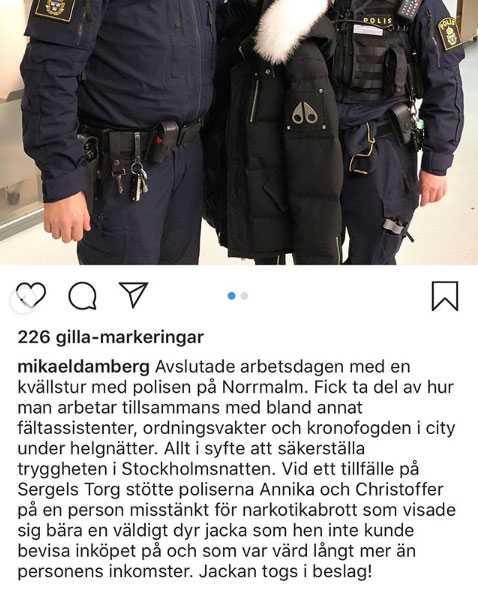 Mikael Dambergs första inlägg.