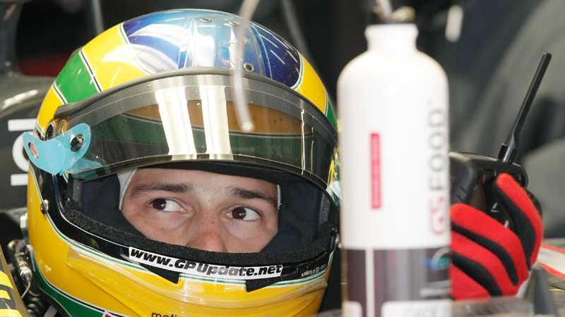 Bruno Senna ser ut att vara tillbaka i HRT-teamet.