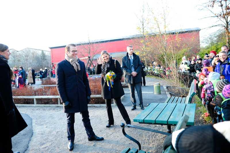 Kronprinsessparet på besök i Järfälla.
