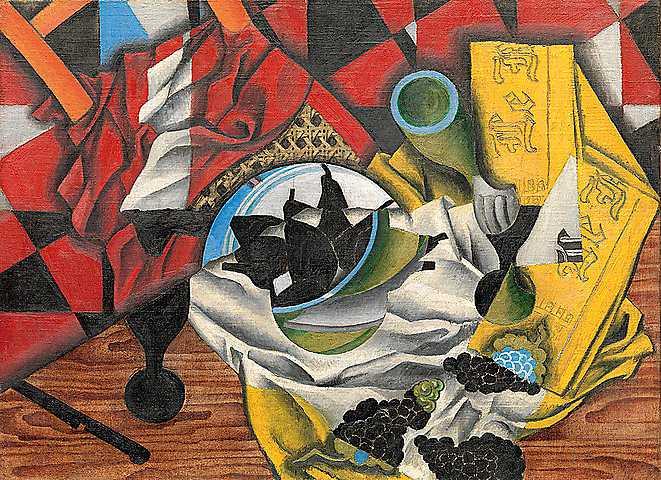 """Juan Gris: """"Poires et raisins sur une table"""", 1913"""