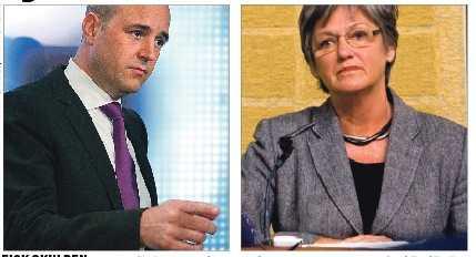 fick skulden Som socialförsäkringsminister ville Cristina Husmark Pehrsson mildra fallet för utförsäkrade. Statsminister Fredrik Reinfeldt lyssnade inte utan bytte ut henne efter valet.