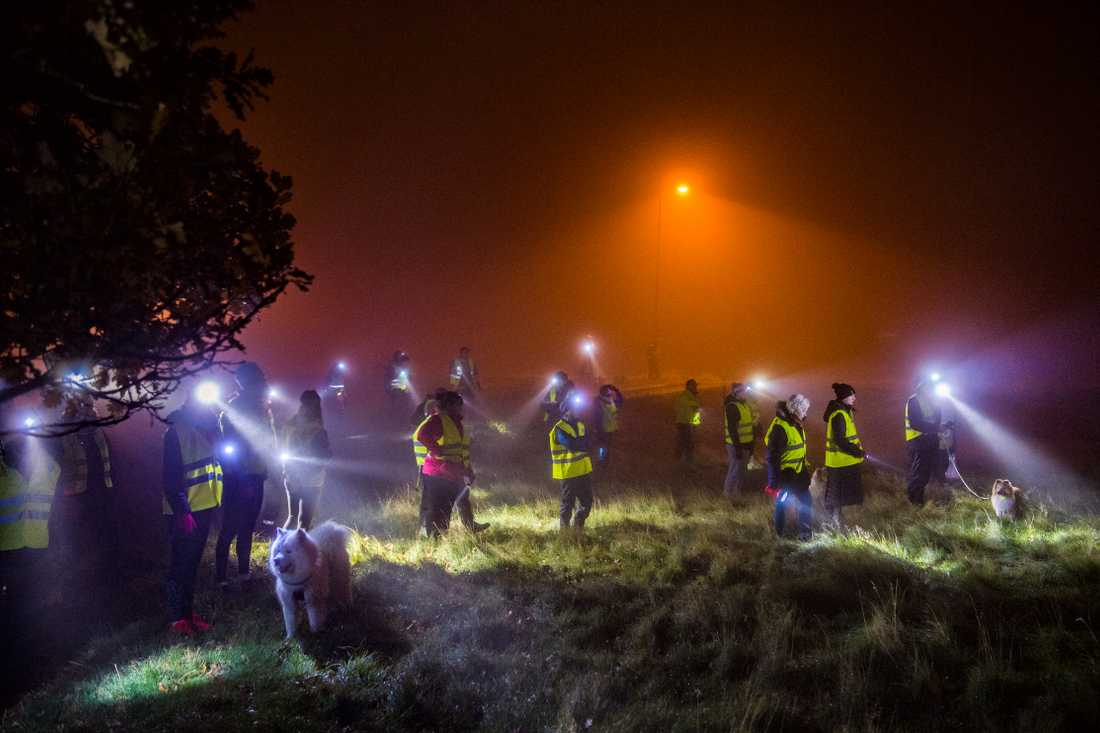 Missing People och tusentals frivilliga deltog i sökandet.