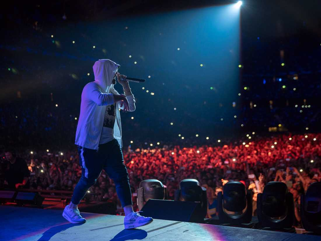 Eminem i Friends arena.