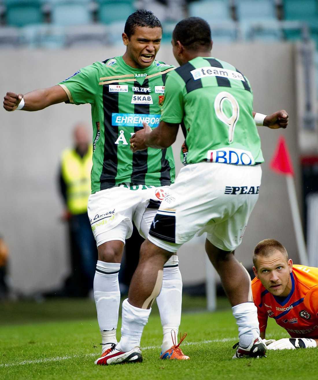 """Snart Återförenade? Wanderson och Helsingborgs Alvaro Santos spelade tillsammans i Gais. Nu håller Santos tummarna för att landsmännen ska få återförenas i HIF. """"Det hade varit en dröm"""", säger han."""