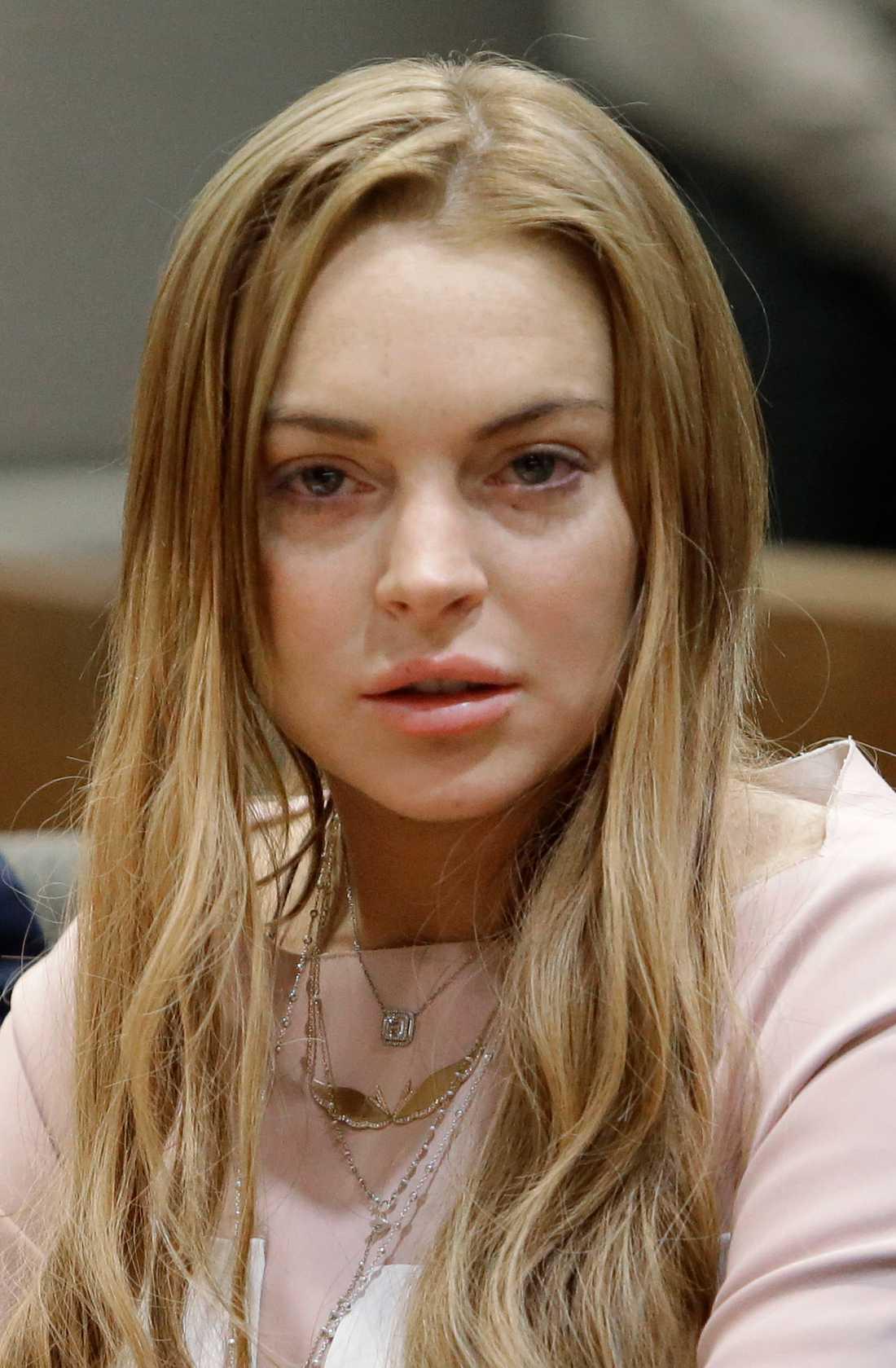 Lindsay Lohan i rätten på måndagen.