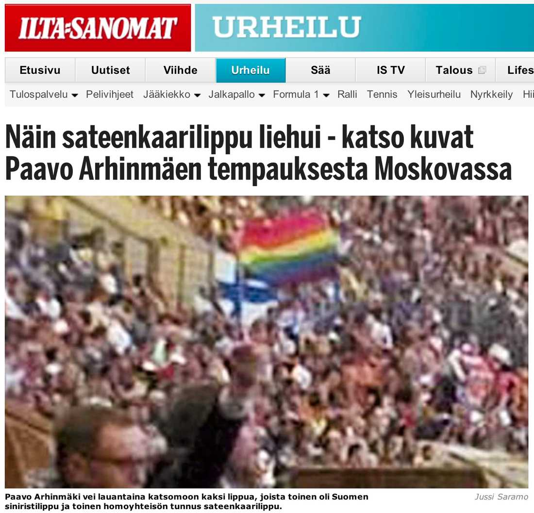 På bilden syns Paavo Arhinmäki, enligt finska medier.