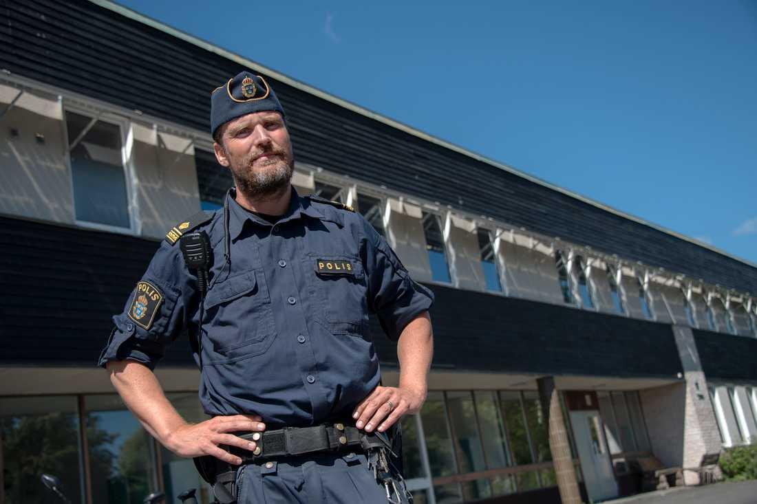 Andreas Pettersson, gruppbefäl polisen.