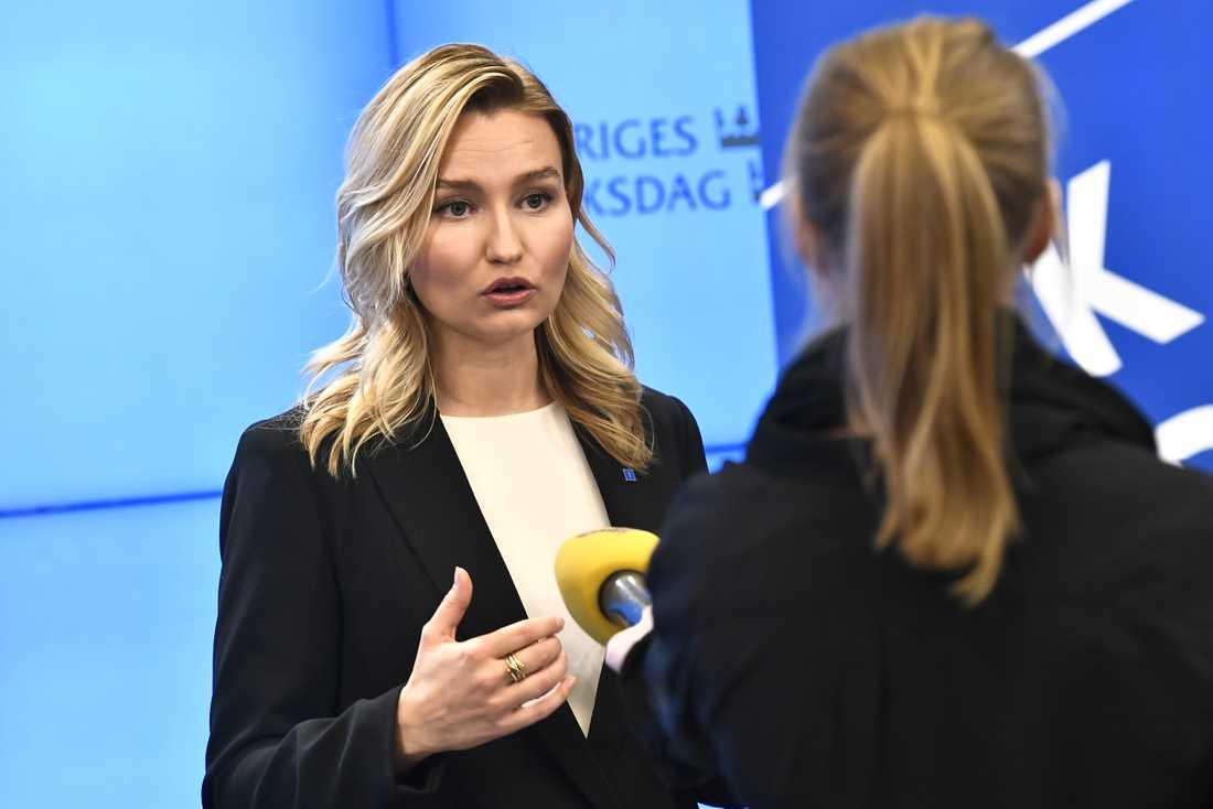 Ebba Busch, partiledare för Kristdemokraterna. Arkivbild.