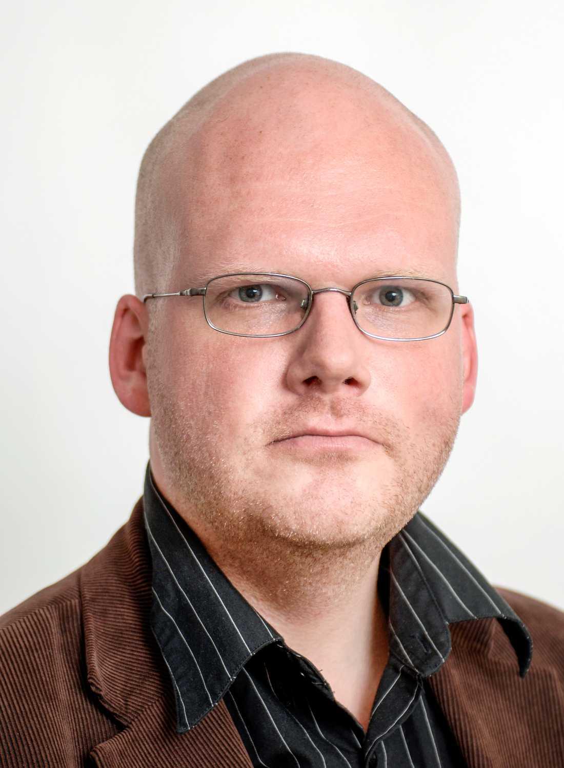 Mikael Grill Pettersson, reporter på SVT.