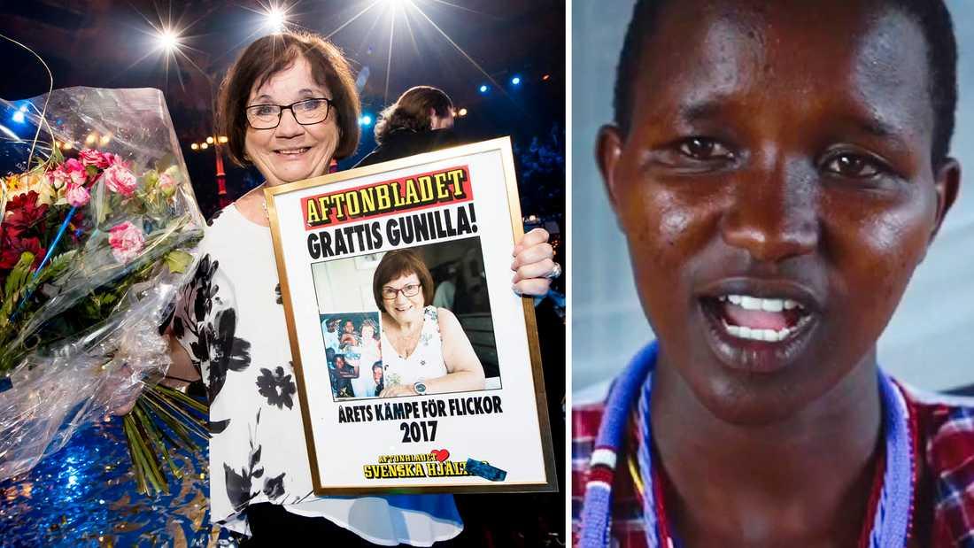 Många afrikanska flickor, som Caroline, kan tacka Gunilla för att de slipper könsstympning.