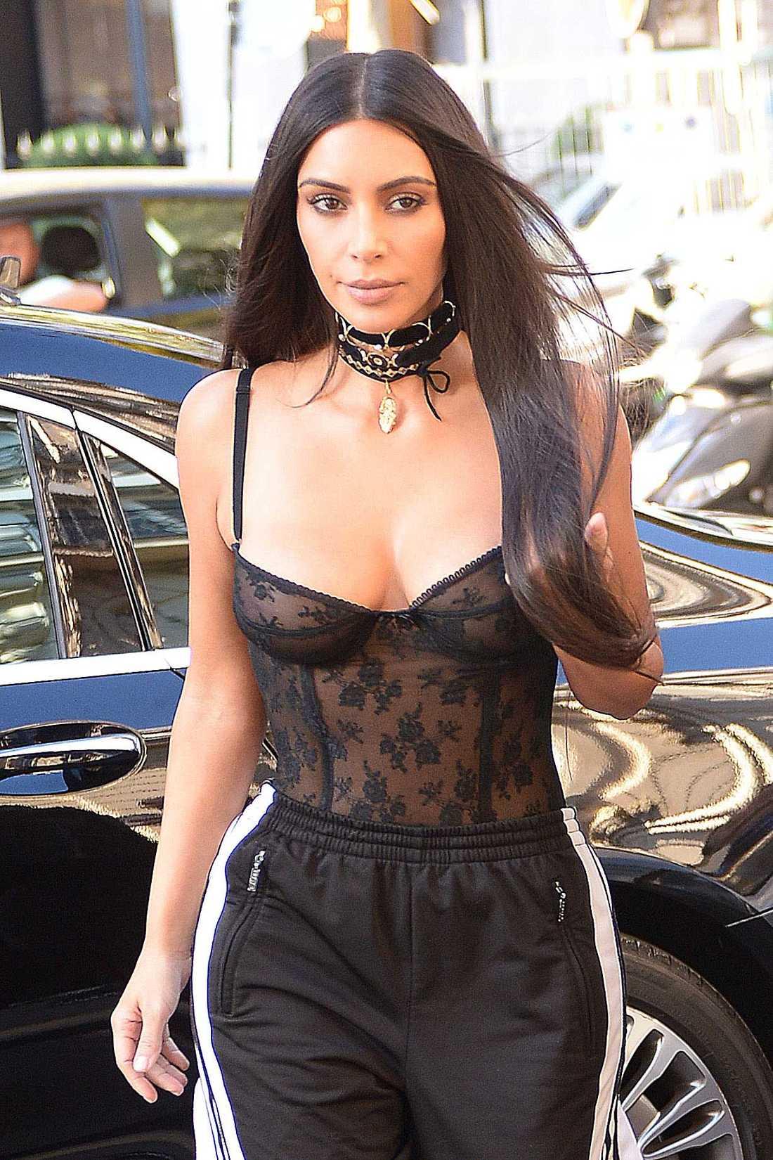 Kim Kardashian under Paris-vistelsen.