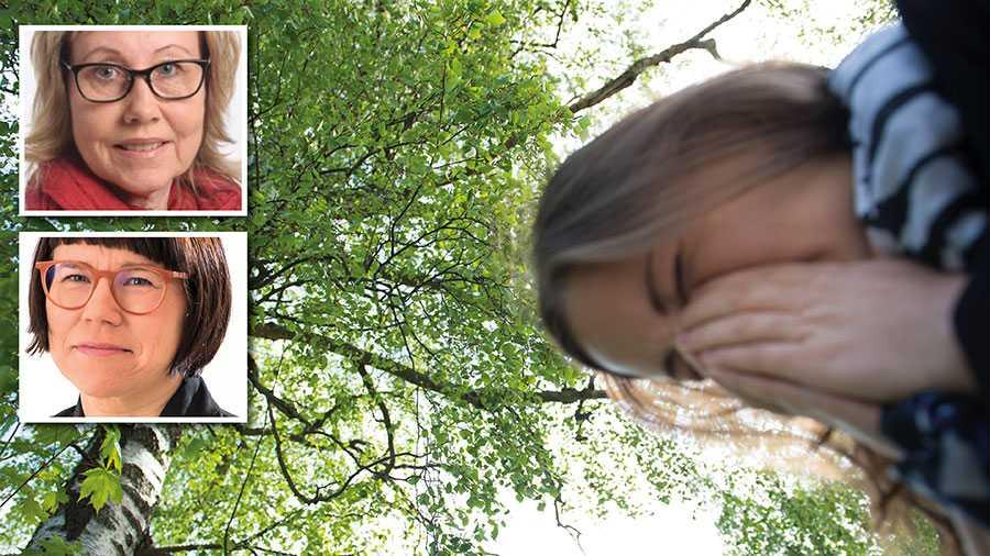 Myndigheternas råd är att alla med luftvägssymtom i rådande coronaläge ska stanna hemma. Det innebär att många med pollenallergi kommer att behöva vara borta under en längre period från skola och arbete i vår, skriver Maritha Sedvallsson och Kristina Ljungros.