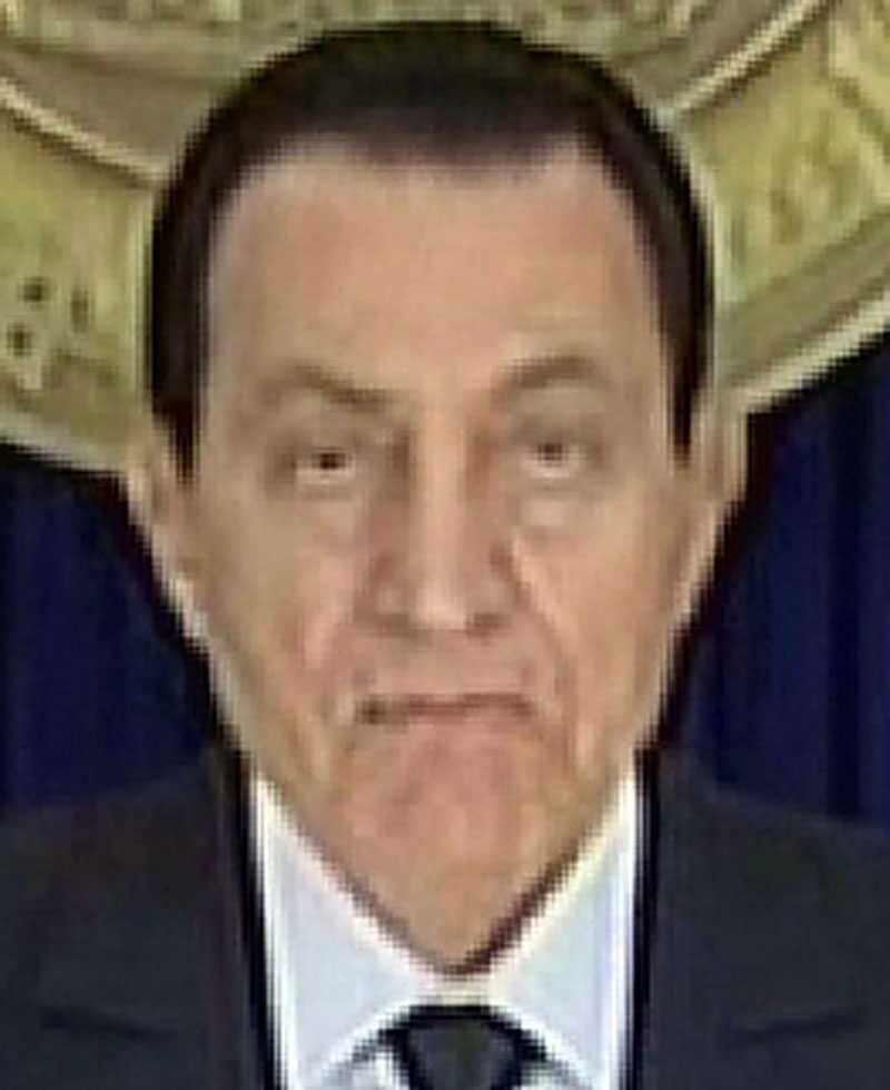 President Hosni Mubarak gjorde ett försök att lugna det egyptiska folket i ett tv-sänt tal före helgen. Det lyckades inte.
