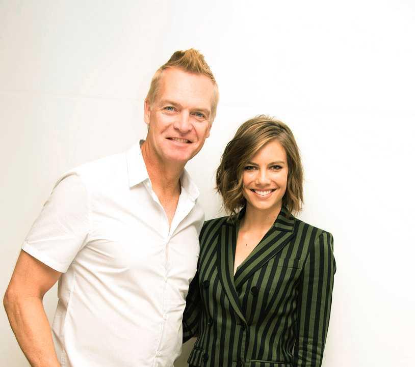 Lauren Cohan tillsammans med Magnus Sundholm.
