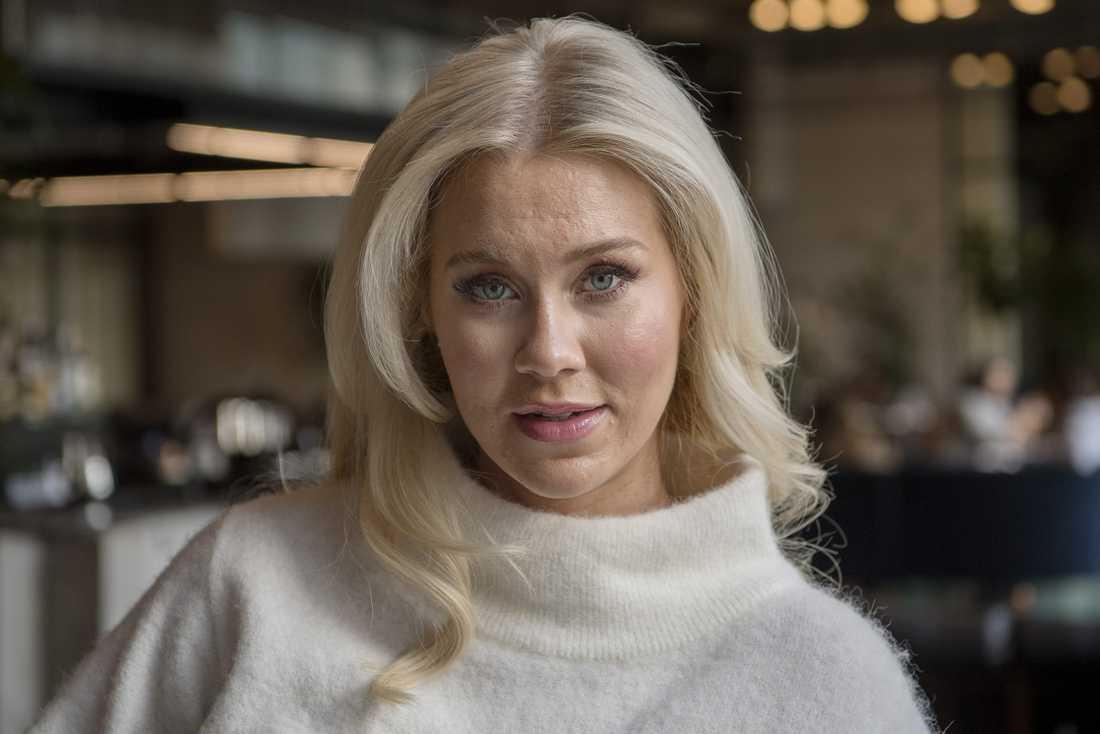 Isabella Löwengrip berättar för Svenska Dagbladet att hon stöttar president Trump.