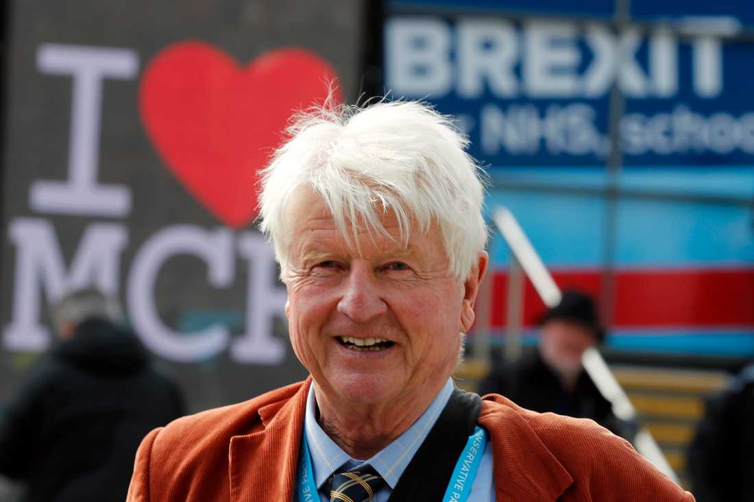 Stanley Johnson på det brittiska Konservativa partiets kongress i Manchester 2019.