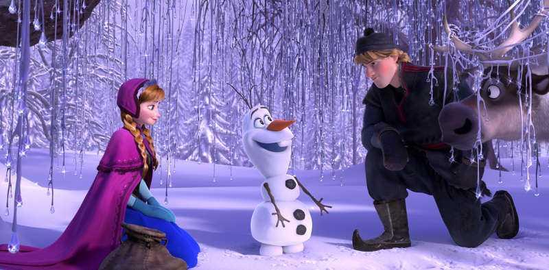 Prinssessan Anna, snögubben Olof och ishuggaren Kristoffer är några av karaktärerna i Frost.